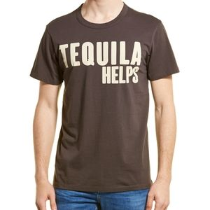 "Chaser ""Tequila Helps"" Graphic Print T-shirt sz M"